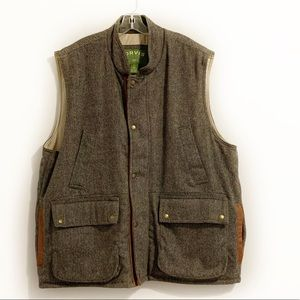 Orvis  Wool insulated Field Vest w/ Leather Trim
